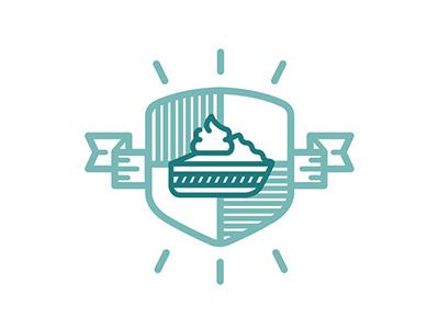 Chiffon Custard Pie chiffon custard pie guild emblem branding design logo tera