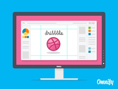First Shot dell dribble photoshop display freebie