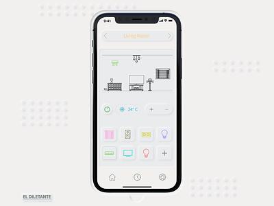 Switch neomorphism iot domotic homekit homecontrol ui ui design app design ios