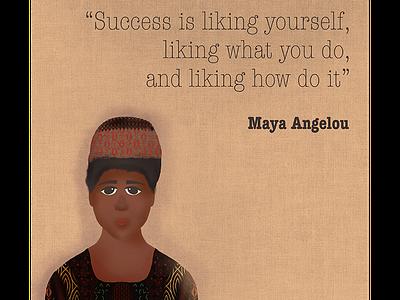 Maya Angelou illustration proceate apple pencil quotes illustration art maya angelou