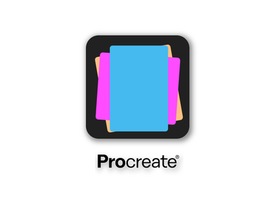 PROCREATE ICON REDESIGN vector procreate apple pencil design logo ios