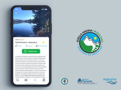 Huella Andina | iPhone Mockup ios maps outdoors iphone app design hiking travel ui design uxdesign