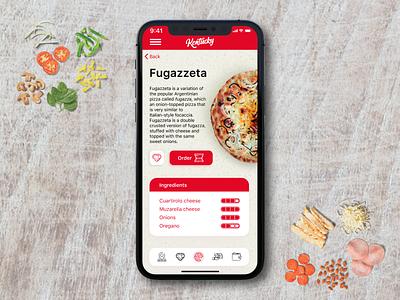 Kentucky Pizza - Mobile App Concept branding food app app app design ios order food pizza ui ui design