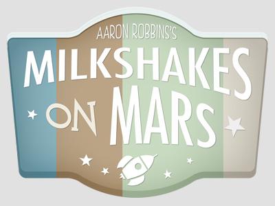 Milkshakes on Mars Logo Concept