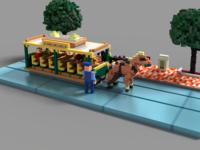 Main Street Trolley - Disneyland