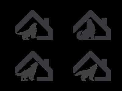 Wolf Home Logo Shape