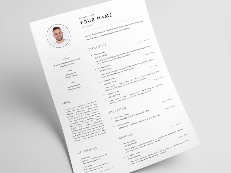 Free Resume Designs Themes Templates And Downloadable Graphic