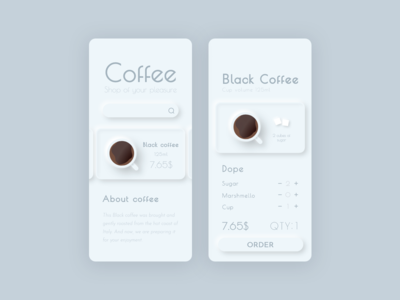Coffee Shop APP #minimalism №1