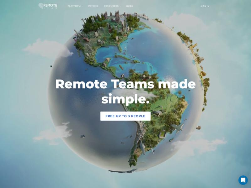 RemoteTeam Website Hero website remote work team remote
