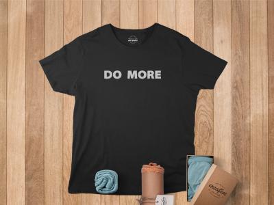 Do More simple black text clean tshirt