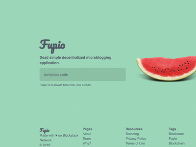 Fupio Hero microblogging dapp social fupio blockstack blockchain