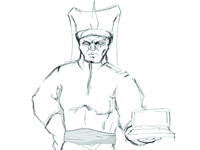 Ottoman character yeniceri illustrator illustration sketch draw figure laptop soldier ottoman