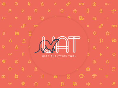 User Analytics Tool Logo and UI design animal ux typography logo mark illustration analytics software ui icons identity brand logo
