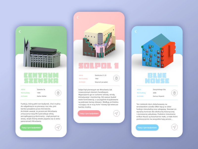 funky architecture / mobile app
