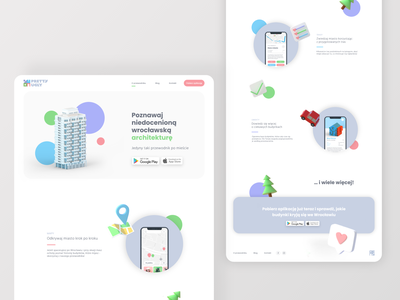 pretty ugly / web wrocław wroclaw travel app travelling website web design 3d art application landing page web city guide architecture