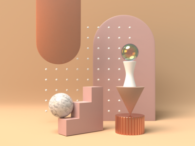 composition 01 3d composition illustration rose gold 3d 3d artist 3d modelling 3d design pink nude marble still life abstract blendercycles blender3d blender 3dillustration composition 3d art