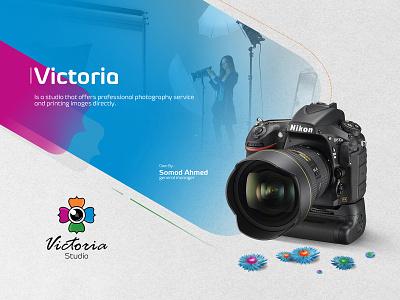 Victoria Studio Logo Design brand logodesign logo branding