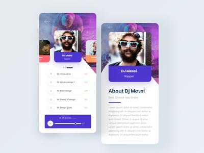 DJ Music App ui concept