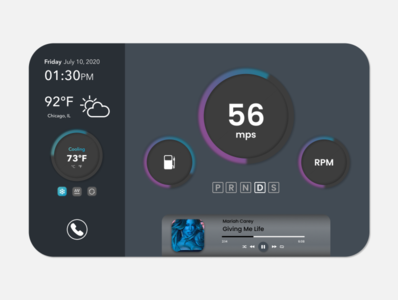 Daily UI 034  Car Interface designer design ux design user experience ui design user interface dashboard car interface daily ui 034 daily 100 challenge dailyui
