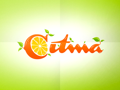 Citma Branding branding fresh lemon logo leaves dew