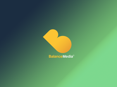 Balance Media Logo logo design branding identity icon balance media
