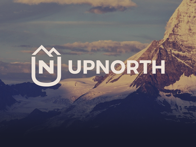 UpNorth logo logo branding climbing travel mountaineering mountain upnorth website web design