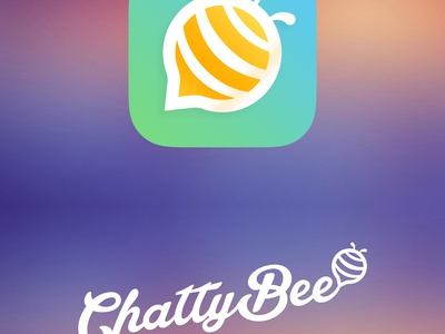 ChattyBee live chat web app branding logo live chat chattybee