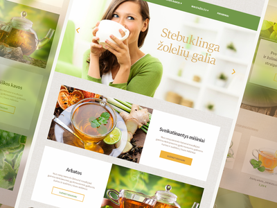 E-Shop design beauty health zolele.lt tea web design e-shop design