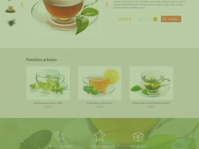 E-Shop design beauty health zolele.lt tea web design e-shop design