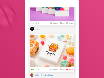 Dribbble App Redesign mobile ux ui design redesign app dribbble