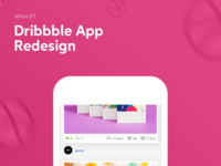 Dribbble redesign 2