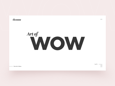 theWow touchable slider ui gif interaction hover animation design website ux wow touchable slider