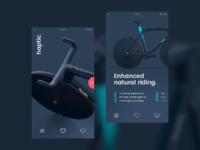 Haptic bike
