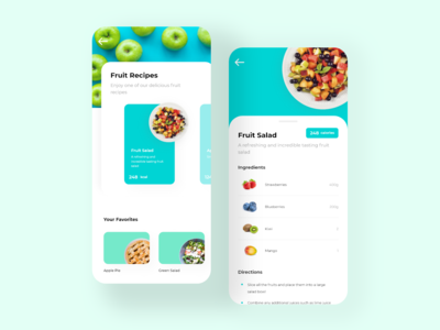 Fruit Cookbook App