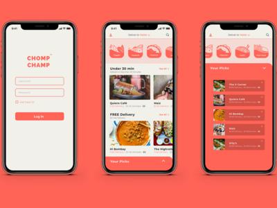 UI/UX Food App (XD Daily Challenge)