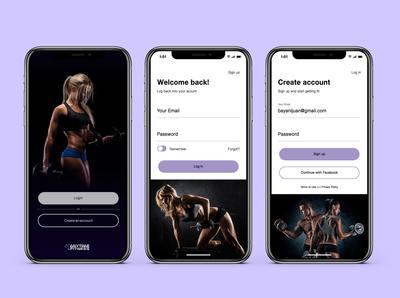 Sign up/Log in Screen Design