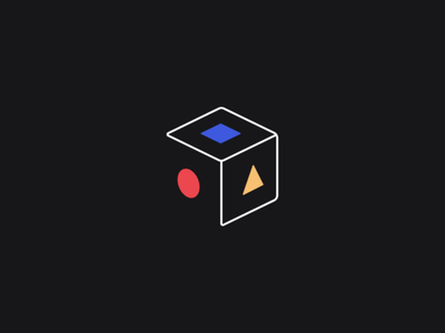 Repo geometry bauhaus colors color branding ui startup technology box repository logo app