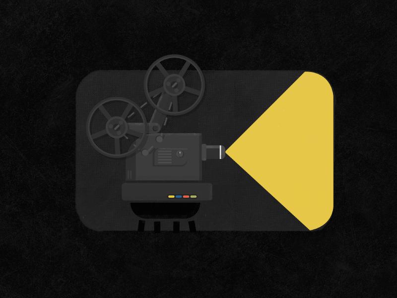 Film blackandwhite flat logo icon app movie cine film noir
