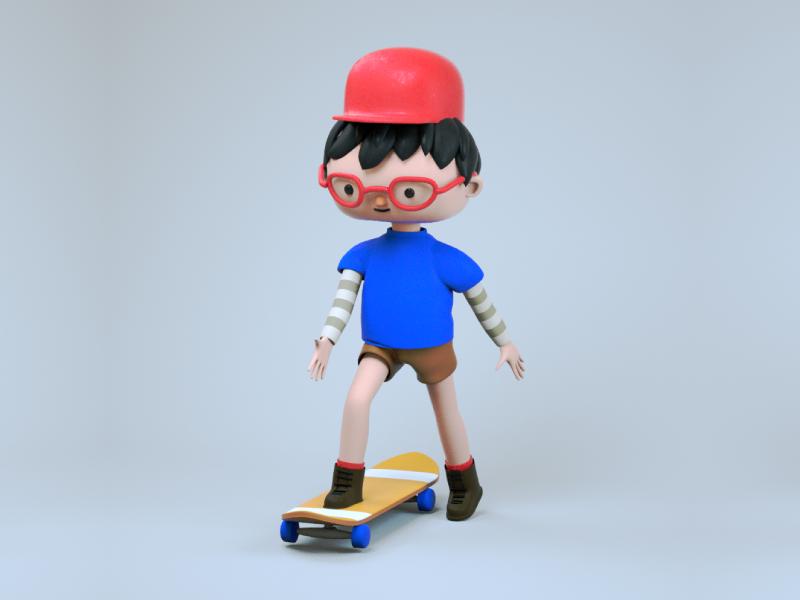 what's up guys? skate boy 3d art cinema4d character creation concept art character 3d