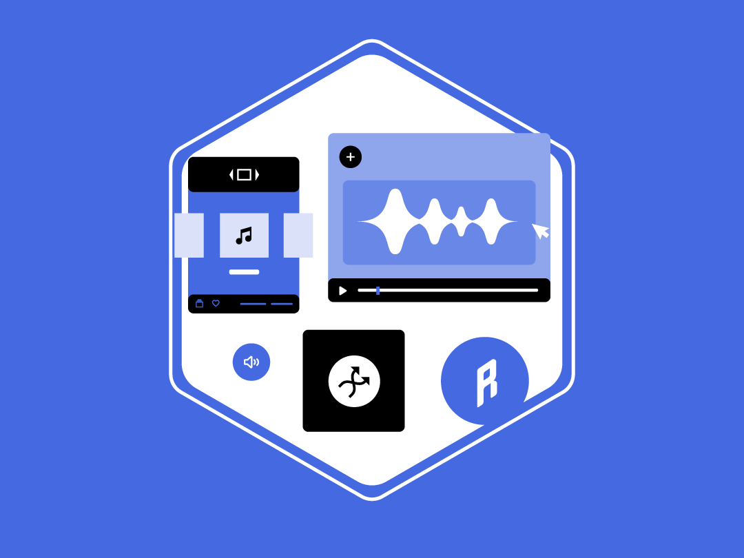 Music app web visual card flat illustration app product design ux ui