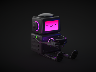 Robotito video game robotic modeling robot colors octane render octane design cinema 4d 3d