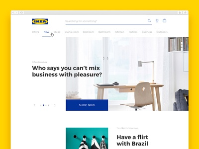 IKEA — Redesign commerce interface user ux ui redesign search pagination carousel navigation banner web
