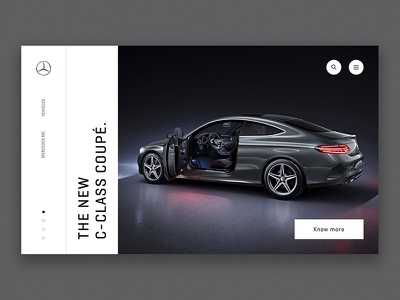Mercedes Landing clean minimal ui menu navigation typography landing mercedes cars ecommerce