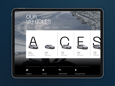Mercedes Vehicles product ux car cars interface carousel navigation landing desktop clean ui minimal