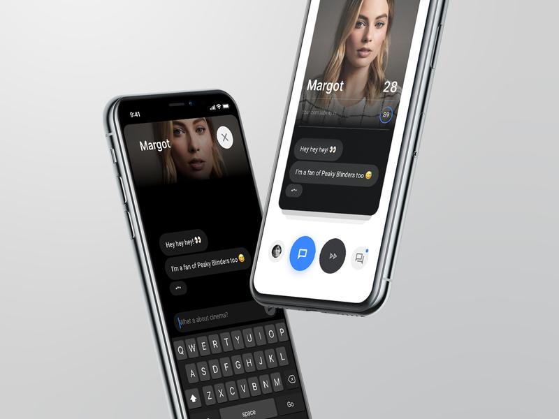 Alike App product design product match message messenger text cards app design navigation clean ui minimal app