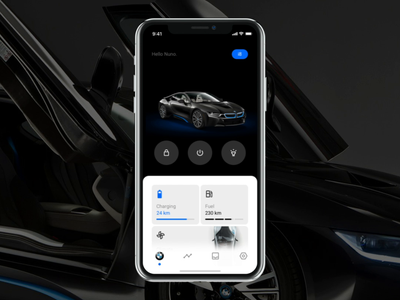 BMW App interaction mobile app motion bmw mobile app ux cars car animation navigation landing ui clean minimal