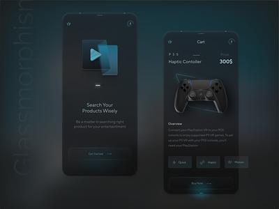 Glassmorphism App Concept screens ui app ux uiux ui design product design minimal design animation