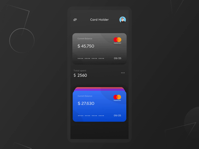 3D card Swipe interaction animation (Cardholder) ux minimal interaction illustration screens app uiux ui product design animation