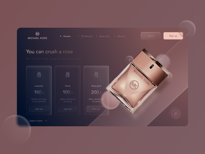 Landing page - Glassmorphism minimal screens ux design app uiux ui ui design product design animation