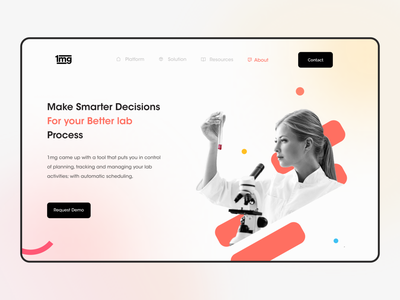 Landing page concept for 1mg web uiux shots minimal website web landing page screens uiux design ux app ui design ui